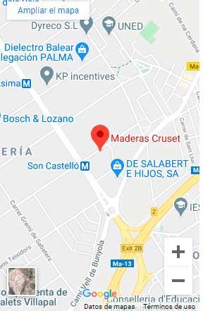 Ver Maderas Cruset en Google Maps